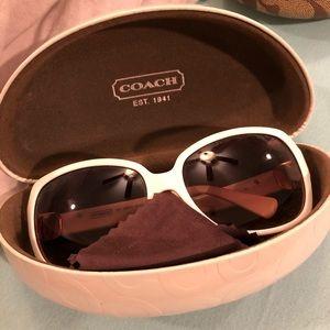 White coach sunglasses